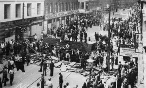 Riots against the nazis in Denmark